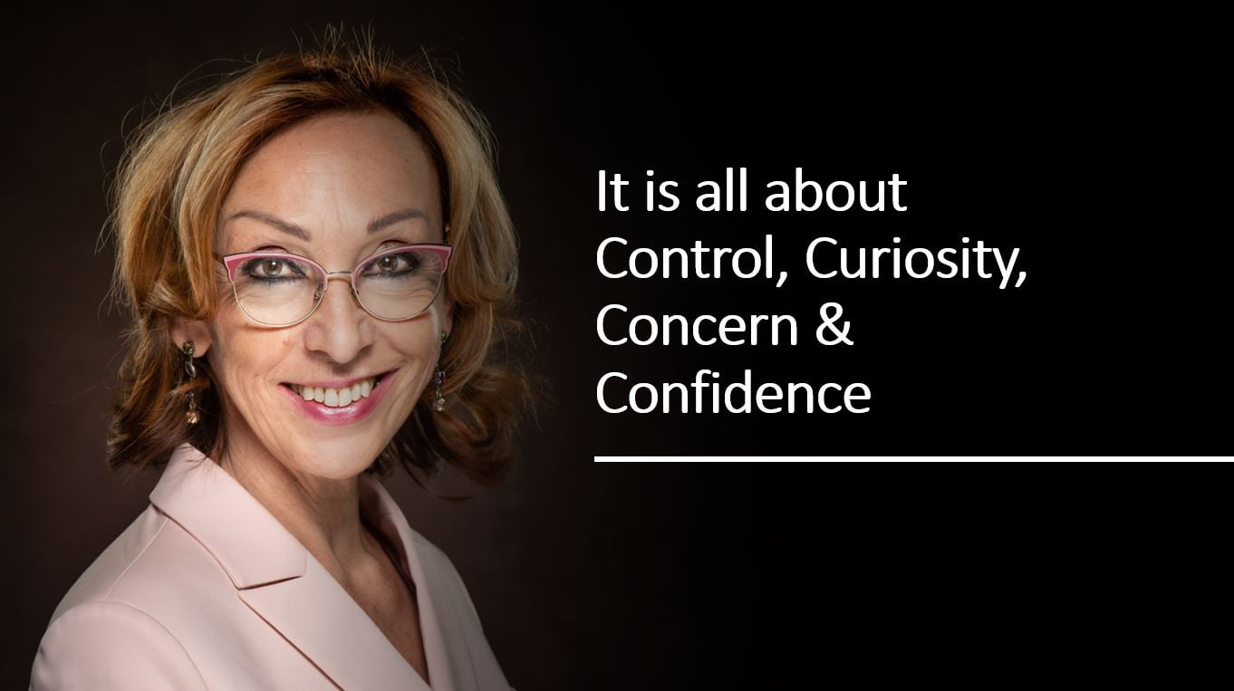 It is all about Contro, Curiosity, Concern & Confidence